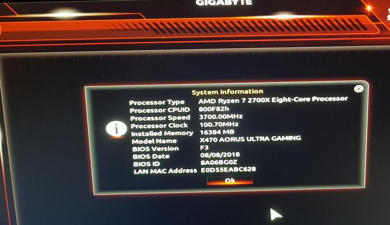 Gigabyte Aorus X470 boot message | Tom's Hardware Forum